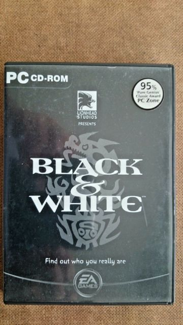 Black and White (PC Windows 2001) -Rare Black Inlay